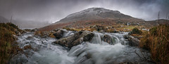 Nature at its best (Einir Wyn Leigh) Tags: landscape snow natur dof panorama mountains winter climate river water sky season february colours outdoor wales snowdonia ogwen valley cymru nikon sigma photoshop lightroom