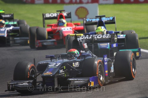 Sergio Canamasas in the GP2 Feature Race at the 2015 Belgium Grand Prix