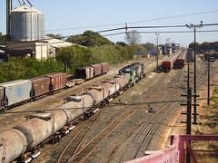 21422 DDM45 #815 + BB40-2 #8148 (de traz) com trem X743 entrando no ptio de Araguari MG do lado Gois    (2) (Johannes J. Smit) Tags: brasil vale trens vli