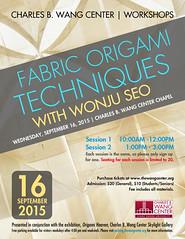 OrigamiWorkshop (Charles B. Wang Center) Tags: seo wonju charlesbwangcenter frabic origamiworkshop