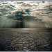 Cuxhaven, Dramatische Lichtverhältnisse in der Elbmündung- Dramatic lighting conditions in the Elbe estuary