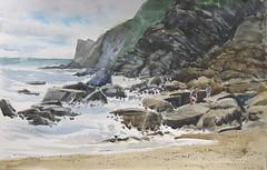 Acantilados en Ribadesella (P.Barahona) Tags: mar pluma acuarela rocas acantilados pbarahona