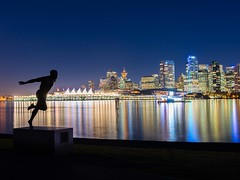 Photo Finish (Spencer Finlay) Tags: city longexposure nightphotography reflection night vancouver lights nikon cityscape stanleypark beautifulbc