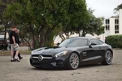 Mercedes-Benz AMG GT S (j.hietter) Tags: black treasureisland overcast s whole mercedesbenz sanfranciscobayarea gt carshow sportscar amg wholecar frontangle