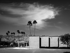 Palm Springs City Hall (Chimay Bleue) Tags: city shadow bw white black brick architecture concrete photography mono hall pattern williams modernism palm architectural springs block frey chambers auditorium modernist