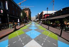 Argyle Street, Halifax (Karen_Chappell) Tags: road street city travel blue urban canada green paint pattern novascotia painted wideangle halifax atlanticcanada canonefs1022mm