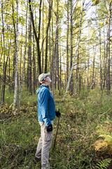 Bog Walking (gamelaner) Tags: minnesota bog avon tamarack sna larixlaricina mndnr scientificandnaturalarea avonhillsforest