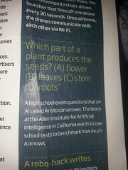 None of the above? Or maybe the flower is what is supposed to be the right answer.  But technically they all produce a seed in the end.  You can't have a plant without any of them.  I felt stupid when I couldn't answer this.  #newscientist #Turing (talulahgosh) Tags: turing newscientist