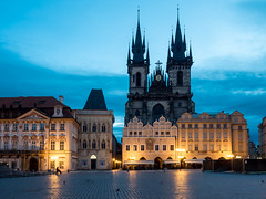 Church of Our Lady before Tn  Prague (rainerralph) Tags: architecture prague prag praha tschechischerepublik czechrepublik architektur barock goldenhour churchofourladybeforetn goldenestunde olympusomdem5markii objektiv1240pro