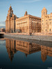 Three Graces reflections (nicknpd) Tags: uk liverpool reflections canal maritime threegraces mersey wallasey merseyside leedsliverpoolcanal 3graces