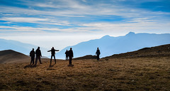 Towards Galicnik (✓ Elena Pejchinova) Tags: sky mountain silhouette hiking hike macedonia mountaineering hikers mountainside mountainscape bistra nationalparkmavrovo mountbistra