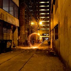 Warp (aerojad) Tags: longexposure chicago night steelwool