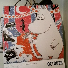 Farewell October Moomins! #moomin #moomintroll #tovejansson #calendar (Nina A.J.) Tags: square calendar squareformat moomin muumi moomintroll tovejansson moomins ludwig iphoneography instagramapp uploaded:by=instagram