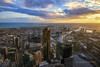 Downtown Melbourne at Sunset (Nur Ismail Photography) Tags: shopping skyscrapers australia melbourne victoria commercial cbd hdr nurismailphotography nurismailmohammed nurismail frozenlite