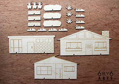 6by6Arts_PopUpVillage3 (thea superstarr) Tags: wood houses holiday modern century village handmade birch kit popup maker pnw mid midcenturymodern madeinusa mcm lasercut laserengraved 6by6arts