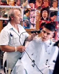 Aristotelis Flat-top no4 (John Elmslie) Tags: street portrait haircut toronto west men flat top queen barber flattop hairstylists aristotelis
