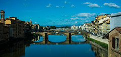 2015.10.11.6097 Florence (Brunswick Forge) Tags: 2015 italy autumn travel florence architecture landscape morning mountains nature firenze river fiume arno water italia aerial bridge historic tuscany toscano grouped favorited