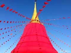 งานห่มผ้าแดง งานประจำปี #พระบรมบรรพต #ภูเขาทอง #Golden #Mount #instaplace #bangkok #pagoda #red #bkk #bangkok #thailand