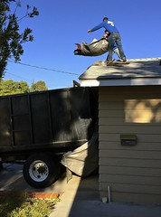 Heave-Ho (tmvissers) Tags: roof demo construction sandiego shingles debris tearoff roofing