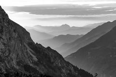 Mountain lines (georg19621) Tags: sky bw mountains landscape deutschland misc year landschaft jahr genre 2012 sunsetsunrise knigsee