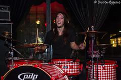 D7K_2350 CC (Braden Bygrave) Tags: show toronto rock drums concert lowlight nikon drum bass guitar flash crowd singer bassist drummer nikonphotography d7100 nikonphoto yn460 nikond7100
