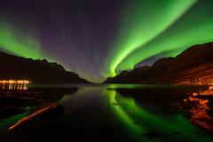 leading lights (John A.Hemmingsen) Tags: auroraborealis arcticlight astronomy ersfjordbotn nordnorge night northernlights tromsø troms