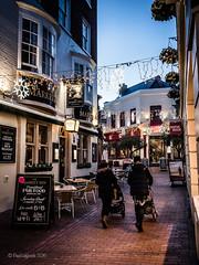 Christmas Lanes (amipal) Tags: brighton christmas city england europe gb greatbritain lights night rain sussex thelanes uk unitedkingdom urban voigtlander 175mm manuallens alley twitten