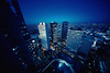 Day 363/366 : Shinjuku Skyscrapers with Tokyo Skytree at Dusk (hidesax) Tags: 363366 shinjukuskyscraperswithtokyoskytreeatdusk dusk buildings skyscrapers tokyoskytree shinjuku tokyo japan hidesax sony a7ii voigtlander 10mm f56 366project2016 366project 365project