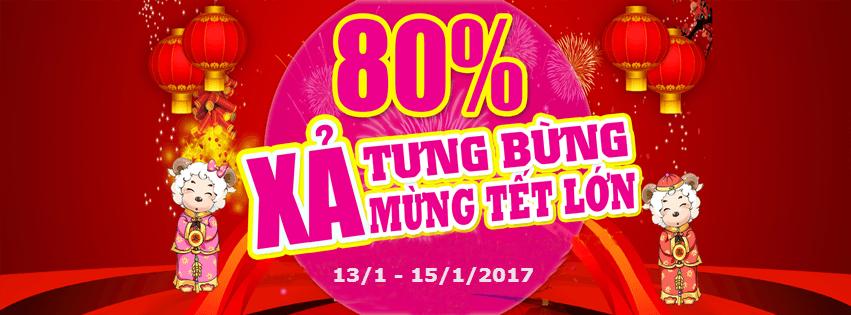 [Trữ hàng Tết cho bé] Tổng Lực Xả Kho - Khỏi Lo Về Giá - Sale Up To 80% tại TutiCare Hà Nội và HCM (13 - 15/1)