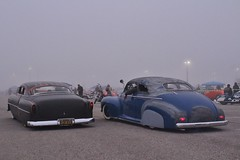 Mooneyes X-Mas Party 2016 (USautos98) Tags: 1954 chevrolet chevy belair leadsled 1941 specialdeluxe hotrod streetrod kustom