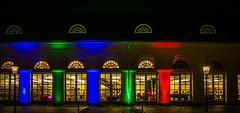 Lichterstadt (pyrolim) Tags: eutin kreisbibliothek lichterstadt beleuchtung weihnachten bunt fenster gauben