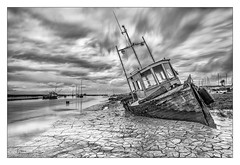 Retired 'N' Lovin' It (Phil Durkin) Tags: boat boats clouds england estuary heswall merseyside mudbanks sea spring thewirral uk daytime decay old tide