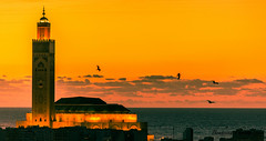 Mosquée Hassan II sunset - Casablanca (Bouhsina Photography) Tags: mosquée hassanii maroc morocco casablanca bouhsina bouhsinaphotogrphy minaret wow