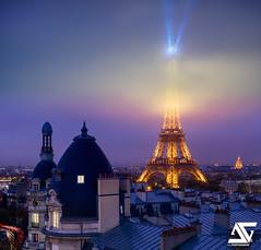 Misty II (A.G. Photographe) Tags: anto antoxiii xiii ag agphotographe paris parisien parisian france français europe capitale nikon nikkor 2470 toureiffel eiffeltower brume myst haussmann invalides