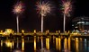 Newport bridge (technodean2000) Tags: city newport south wales uk nikon d610 fireworks lightroom bridge night