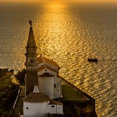 Piran (Vojko Berk) Tags: sunset piran architecture church sea ocean adriatic light cityscape tranquility slovenia summer holidays