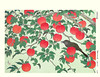Apple and brown-eared bulbul (Japanese Flower and Bird Art) Tags: flower apple malus domestica rosaceae bird browneared bulbul ixos amaurotis pycnonotidae tomikichiro tokuriki modern woodblock print japan japanese art readercollection