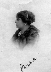 Marie (vintage ladies) Tags: vintage portrait lady woman people blackandwhite studio female earing coat 20s 20slady 20swoman eoshe