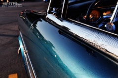 Sunliner at Sundown (Hi-Fi Fotos) Tags: ford sunliner fairlane 1950s blue chrome vintage american classiccar dusk sundown shiny metallic paint custom nikon d5000 hififotos hallewell