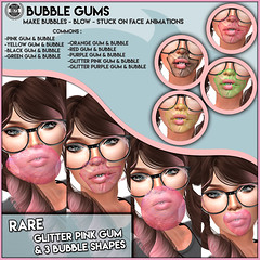 [Since1975] BubbleGum 's Gacha ([ Since 1975 ]) Tags: since 1975 since1975 second life sl original mesh mug bubble bubblegum gum animated compatible catwa stucking blowing