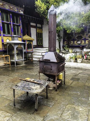 Incense stove, Kyichu Lakhang, Paro, Bhutan