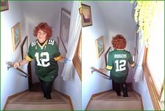 Go, Packers! (Laurette Victoria) Tags: packers aaronrodgers jersey laurette woman leggings auburn