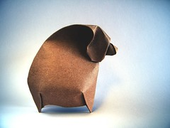 Curved Bear - João Charrua (Rui.Roda) Tags: origami papiroflexia papierfalten urso curvo oso ours curved bear joão charrua