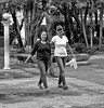 Walk in a Park (Beegee49) Tags: street ladies walking park blackandwhite silay city philippines