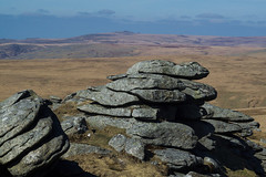 mis tor (hollyfreyja) Tags: dartmoorr monolithic pentax k50 nature devon england hiking moorland wilderness tors dartmoor national park river bellever forest