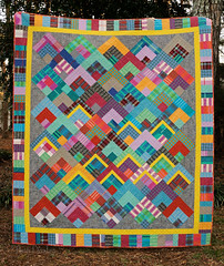 Loominous Cabins quilt (Huntspatch Quilts) Tags: n1701288275 loominous yarndye annamariahorner quilt quilting