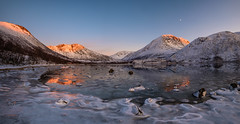 Last rays in Kattfjord (John A.Hemmingsen) Tags: landscape water winter mountains fjord tromsø troms nordnorge norway sunset snow ice