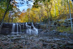 Looking Back (Notkalvin) Tags: brushcreekfalls falls waterfalls woods trees fall autumn outdoor river water notkalvin mikekline notkalvinphotography colorful wild nature