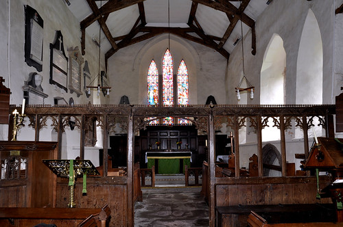 Culmington, Shropshire, All Saints' church, choir screen