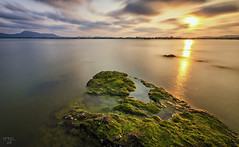 Cool and Warm (zphanjakidze2) Tags: 2013 ahmad best bwnd110 class cool coolpicture coolpictures d7000 dungun exposure fahmi getty green images landscape long malaysia nikon photography rock seascape shutter slow stone sunset terengganu warm water weed